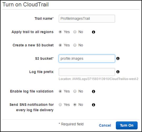 Enabling CloudTrail