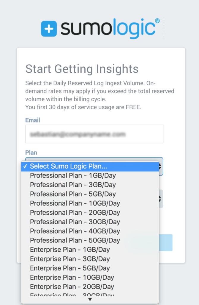 sumo-logic-aws-marketplace-data-ingest-plans