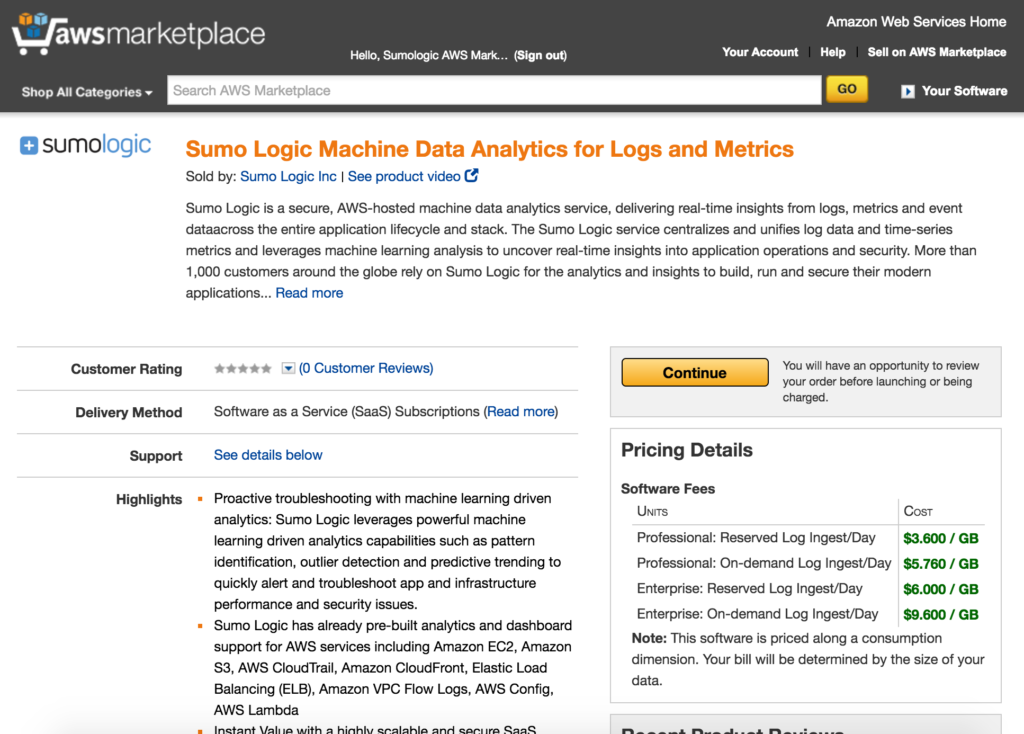 sumo-logic-page-aws-markeplace